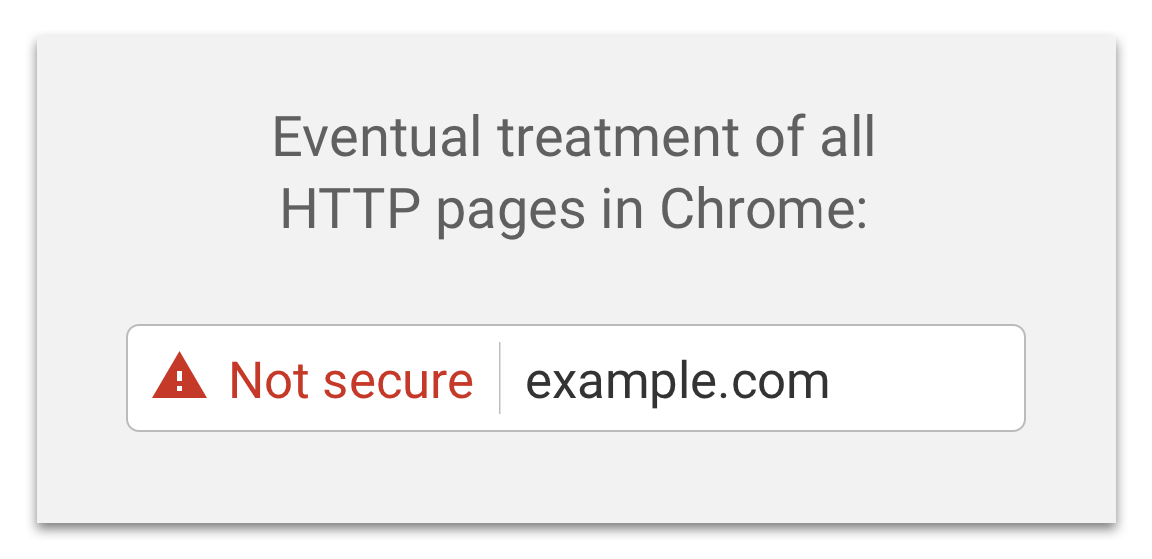 Chrome eventual treatment of all HTTP pages